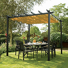 Rowlinson Latina Metal Free Standing Canopy - with