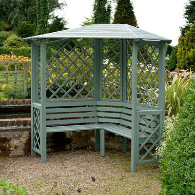 Blooma Softwood Lattice Corner Arbour Departments Diy