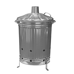 Galvanised Steel 85L Incinerator (H)730mm (W)550mm (L)550mm