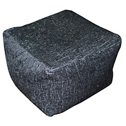 Elite Plain Black Bean Bag Cube