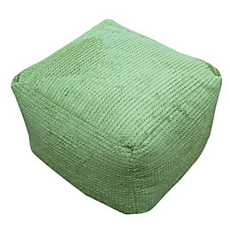 Bubble Plain Lime Bean Bag Cube