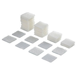 Griptite White Stick On Square (L)25mm, Pack of