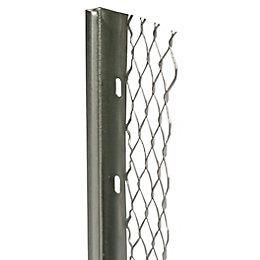Galvanised Steel Stop Bead (L)2400mm (W)60mm