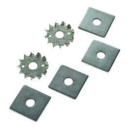 Expamet Galvanised Steel Tooth Plate, Set of 2