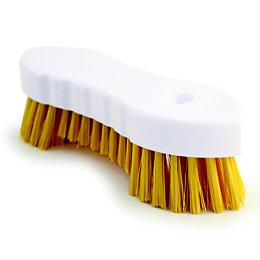 Bentley Yellow Scrub Brush (W)30cm
