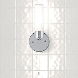 Float Chrome Effect Halogen Capsule Bathroom Wall Light