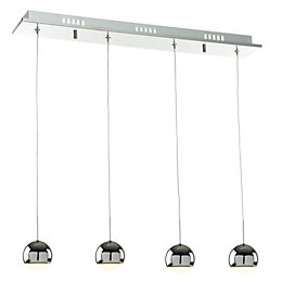 Pluto Chrome Effect 4 Lamp Pendant Ceiling Light