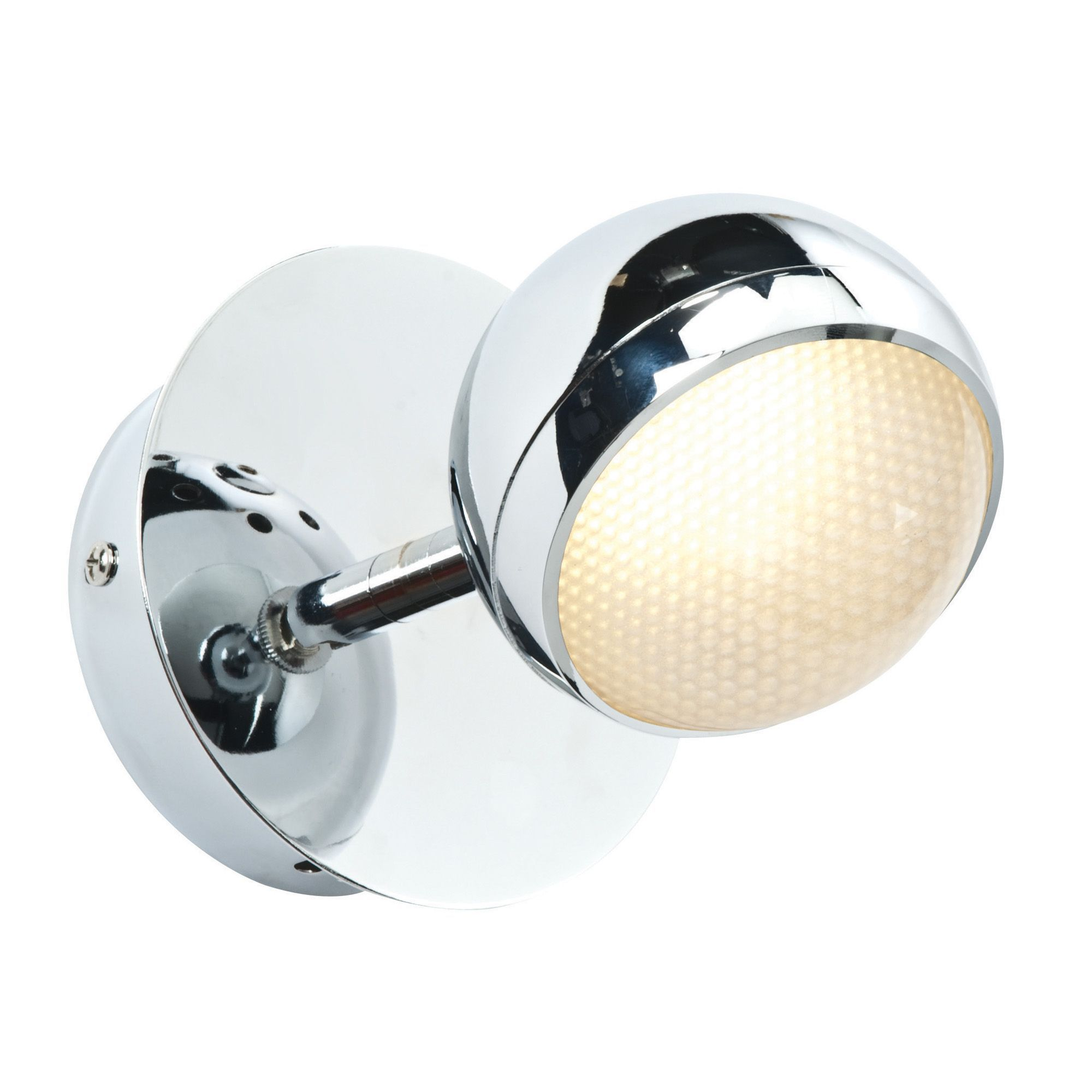 Chrome Effect Wall Lights : Pluto Chrome Effect Wall Light Departments TradePoint
