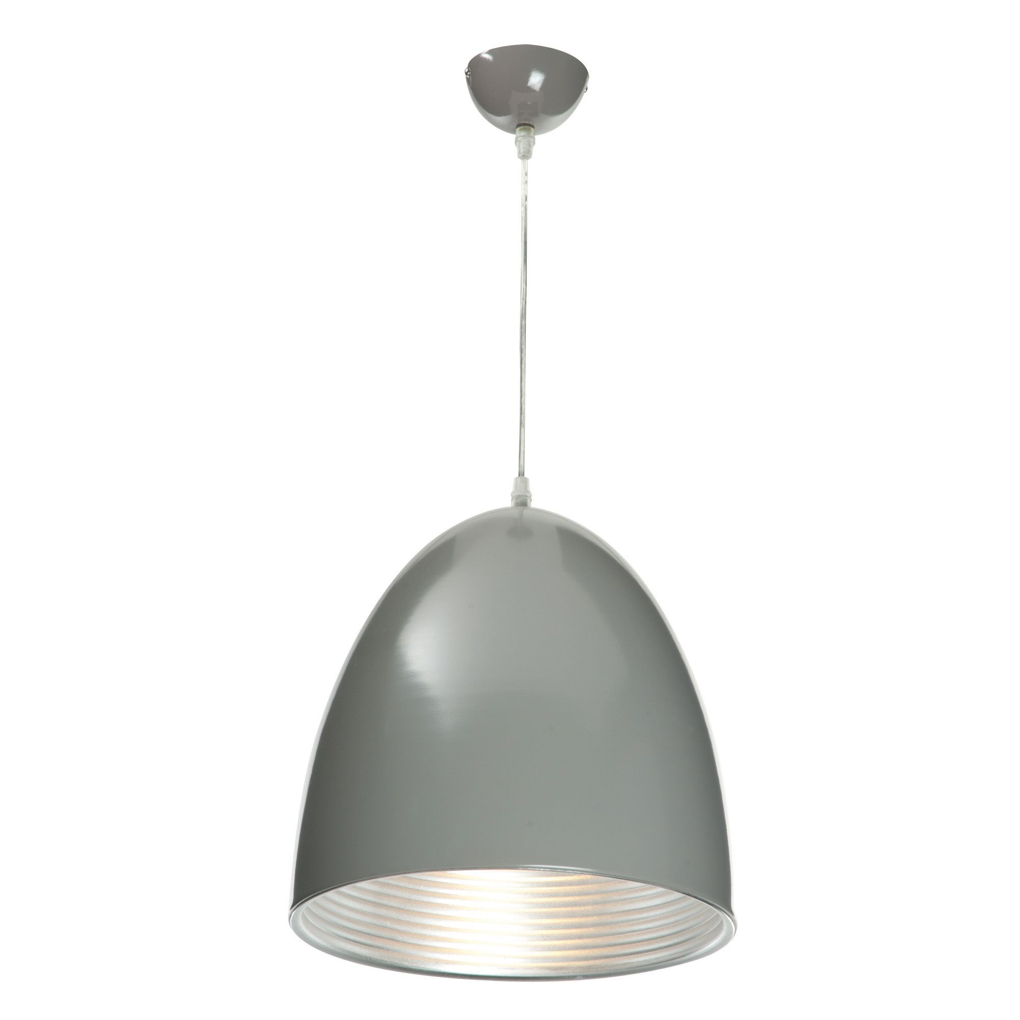 Outdoor Ceiling Lights B And Q : Ripple grey pendant ceiling light departments diy at b q