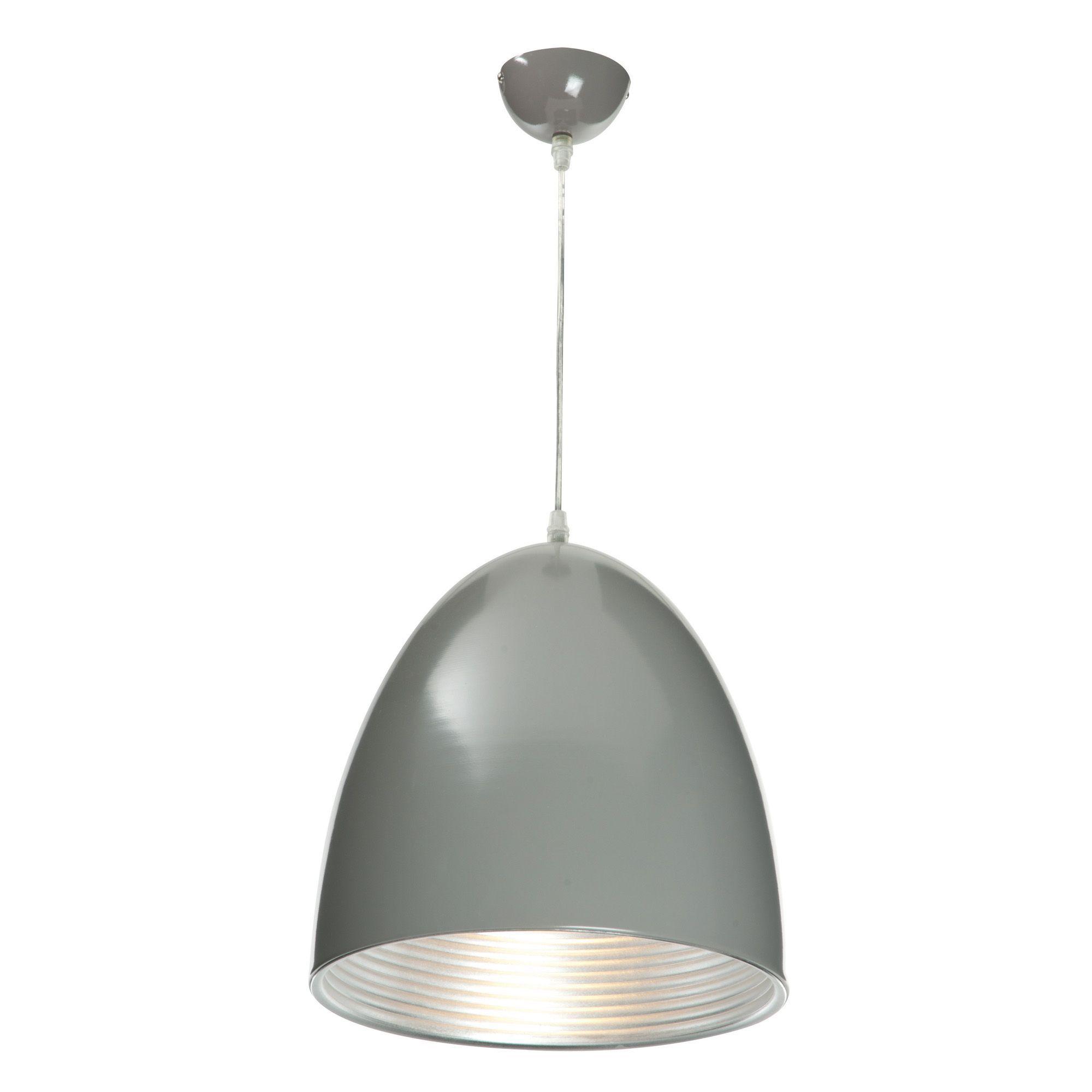 ripple grey pendant ceiling light departments diy at b q