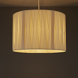 Acasia Ivory Ribbon Light Shade (D)410mm