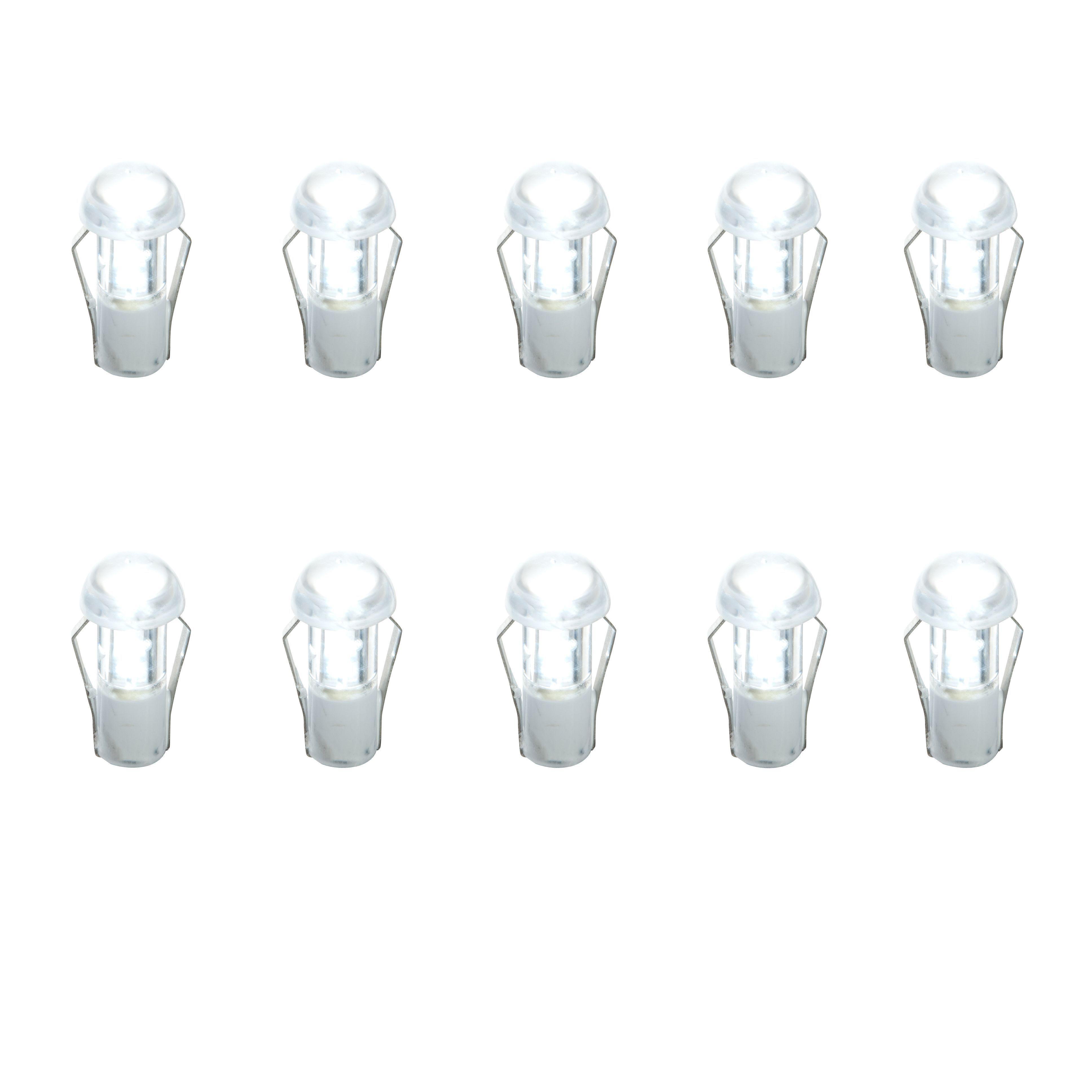 Masterlite Mains Powered Led Cabinet Light, Pack Of 10