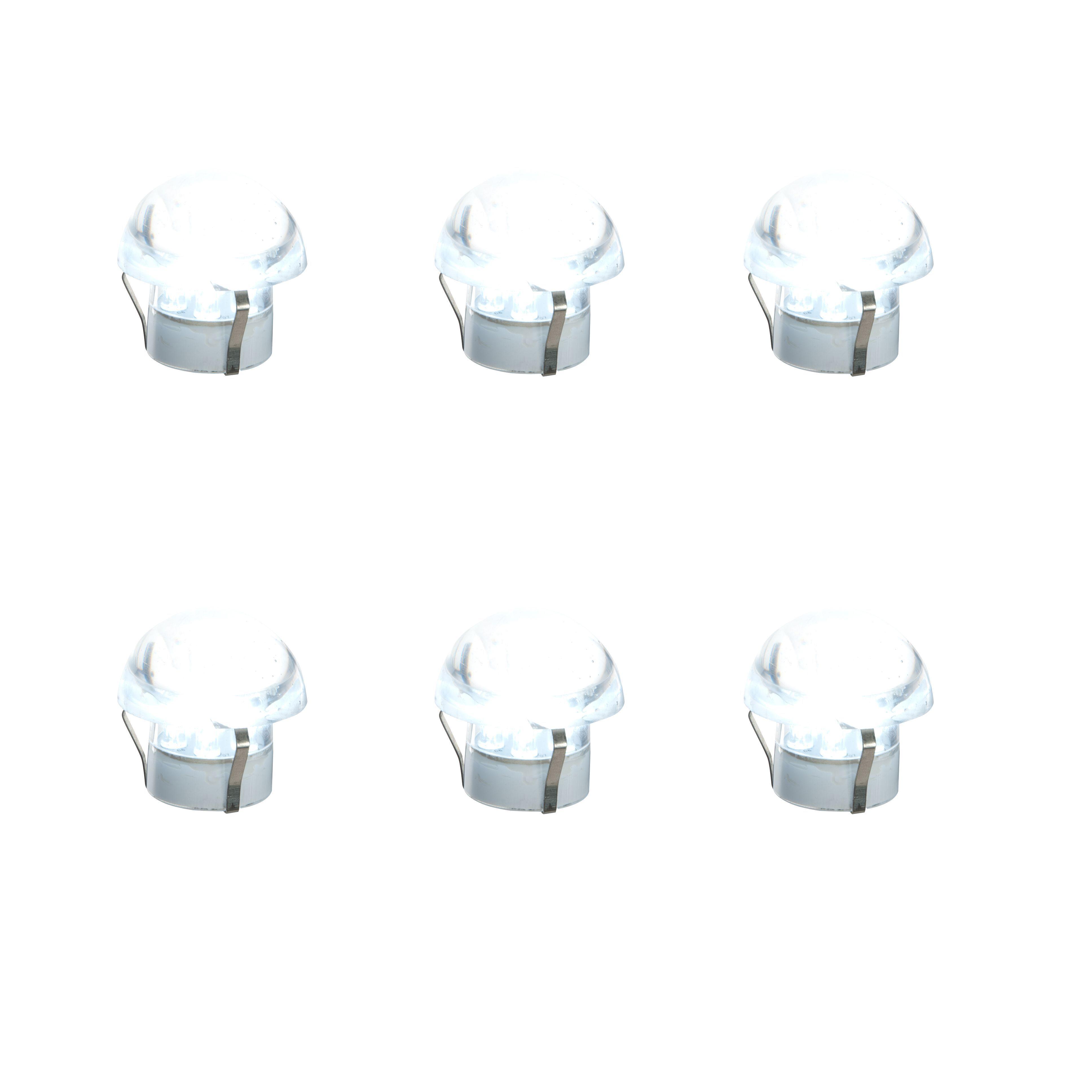 Masterlite Mains Powered Led Cabinet Light, Pack Of 6