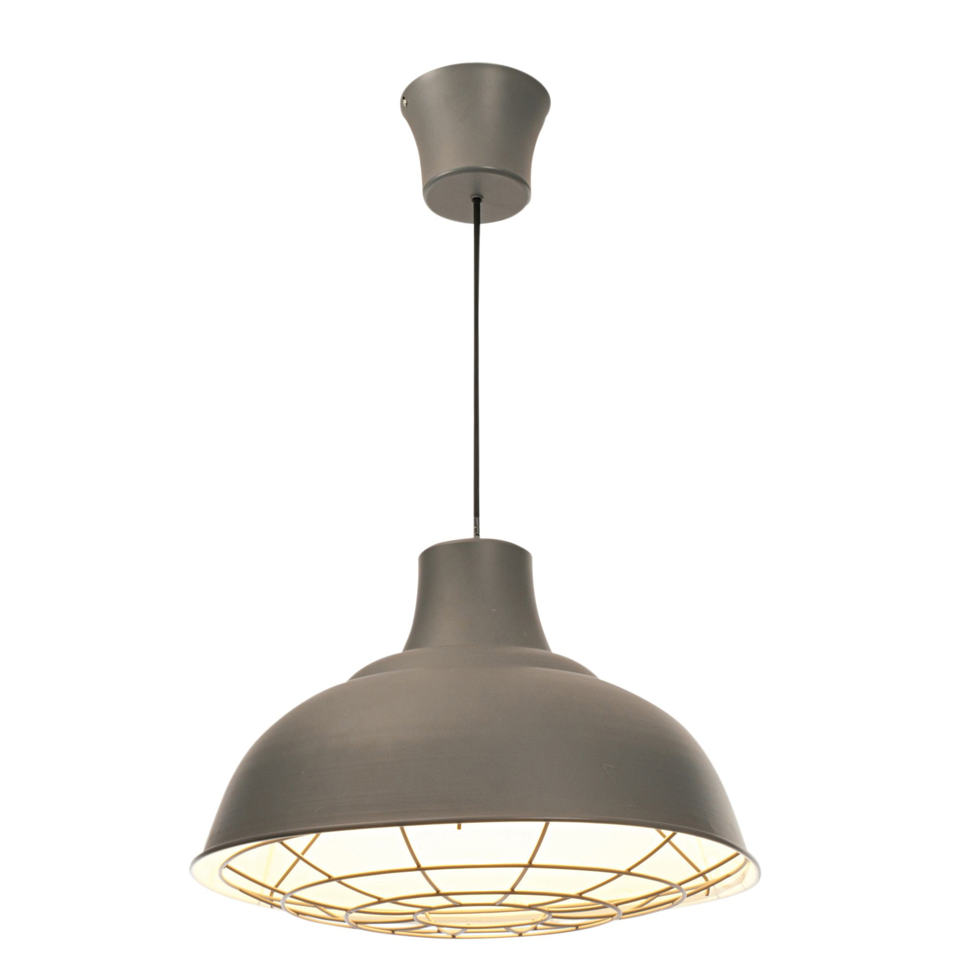 Industry White & Charcoal Pendant Ceiling Light