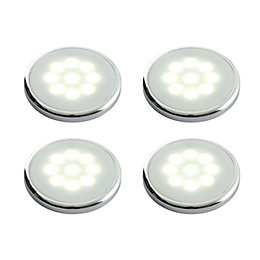 Masterlite Mains Powered LED Cabinet Light, Pack of