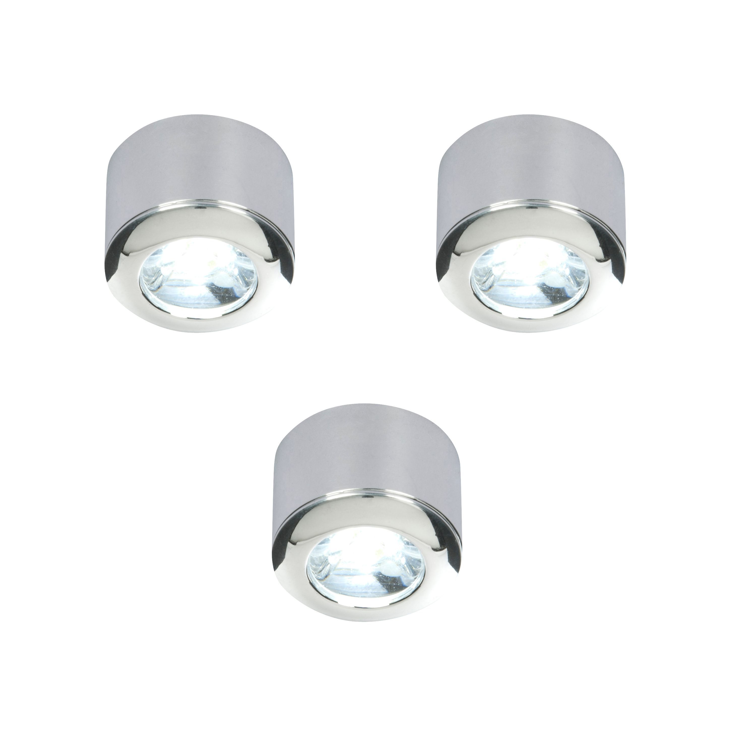 Masterlite Mains Powered Led Cabinet Light, Pack Of 3