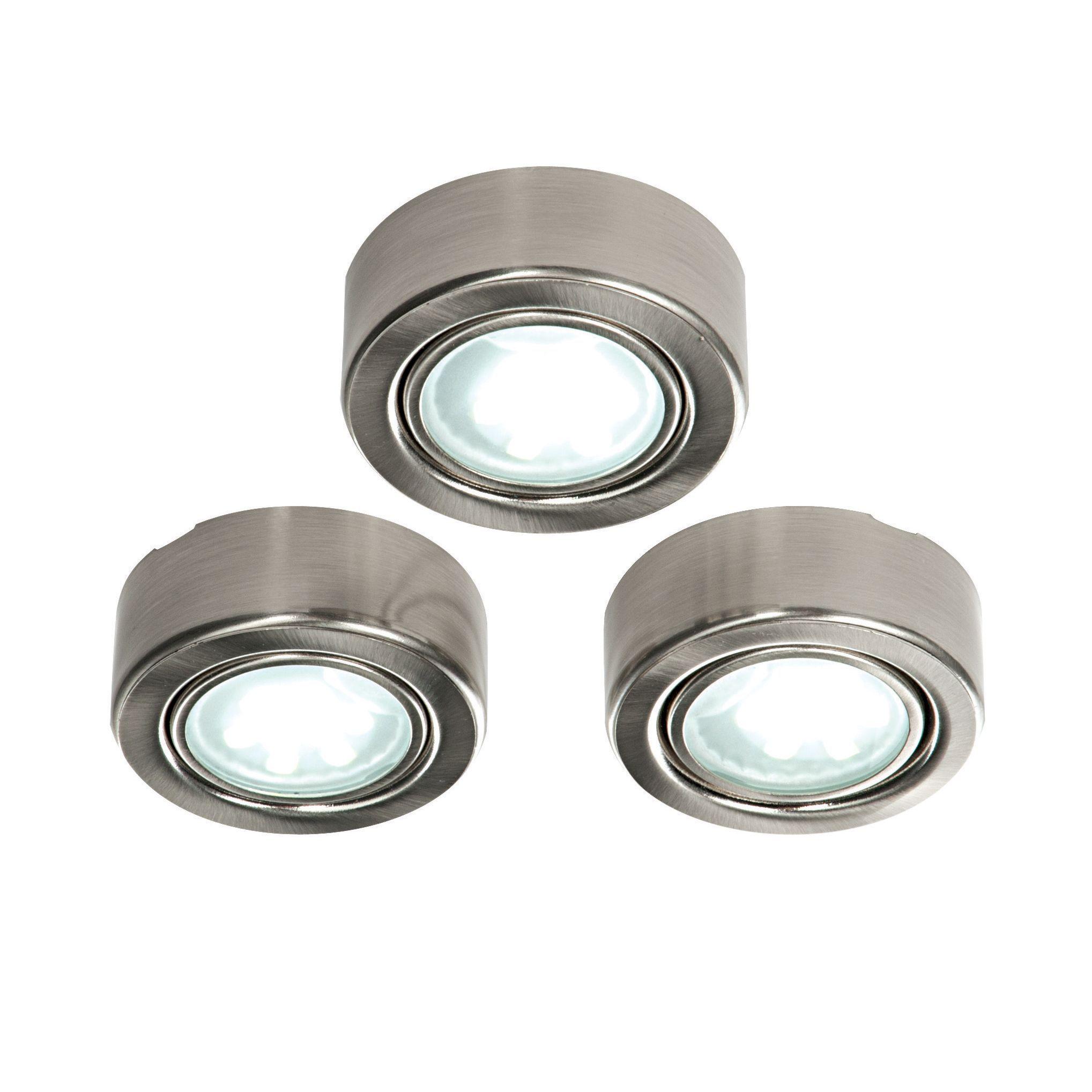 diy led cabinet lighting. masterlite mains powered led cabinet light pack of 3 departments diy at bu0026q diy led lighting