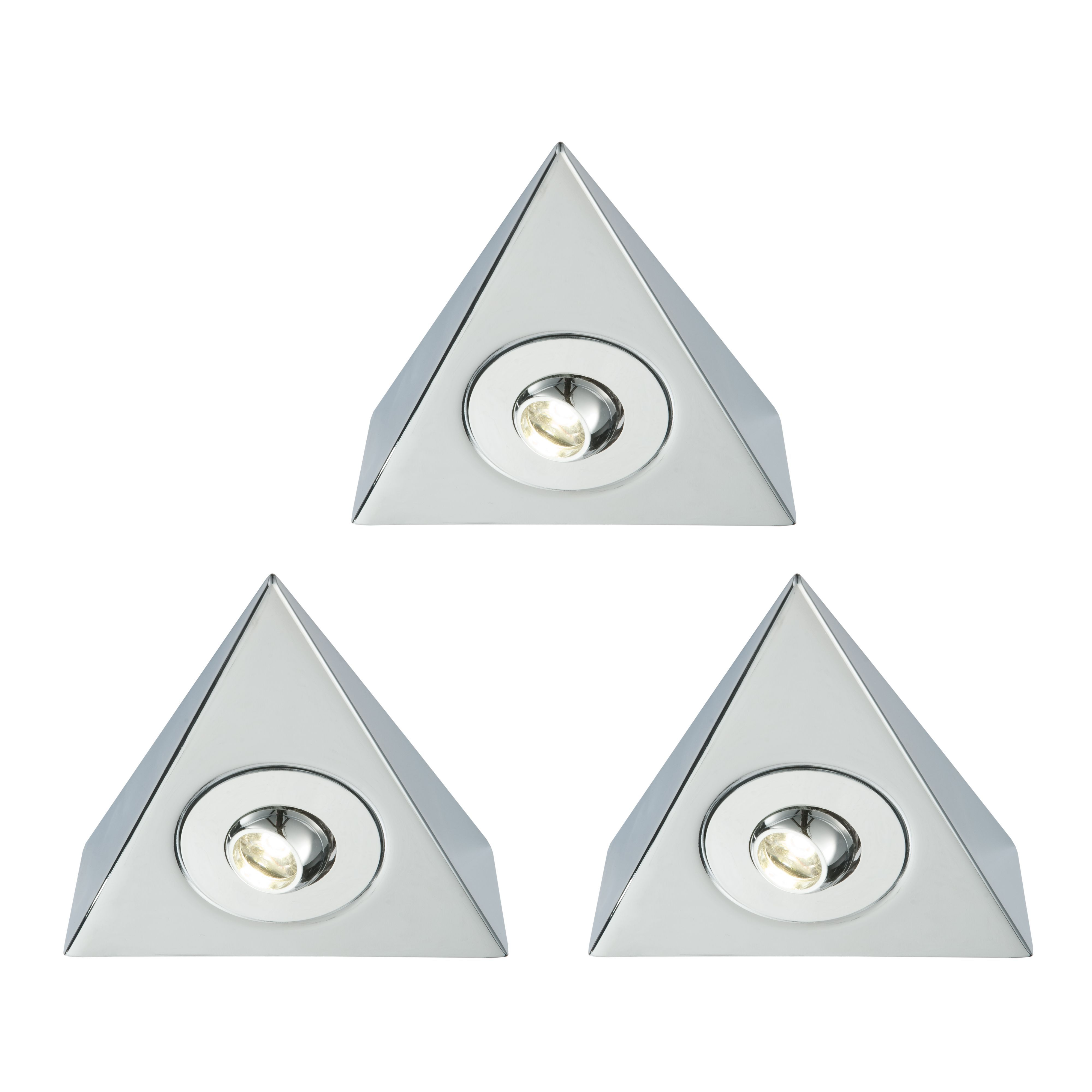 Masterlite Mains Powered Led Cabinet Light (l)125mm, Pack Of 3