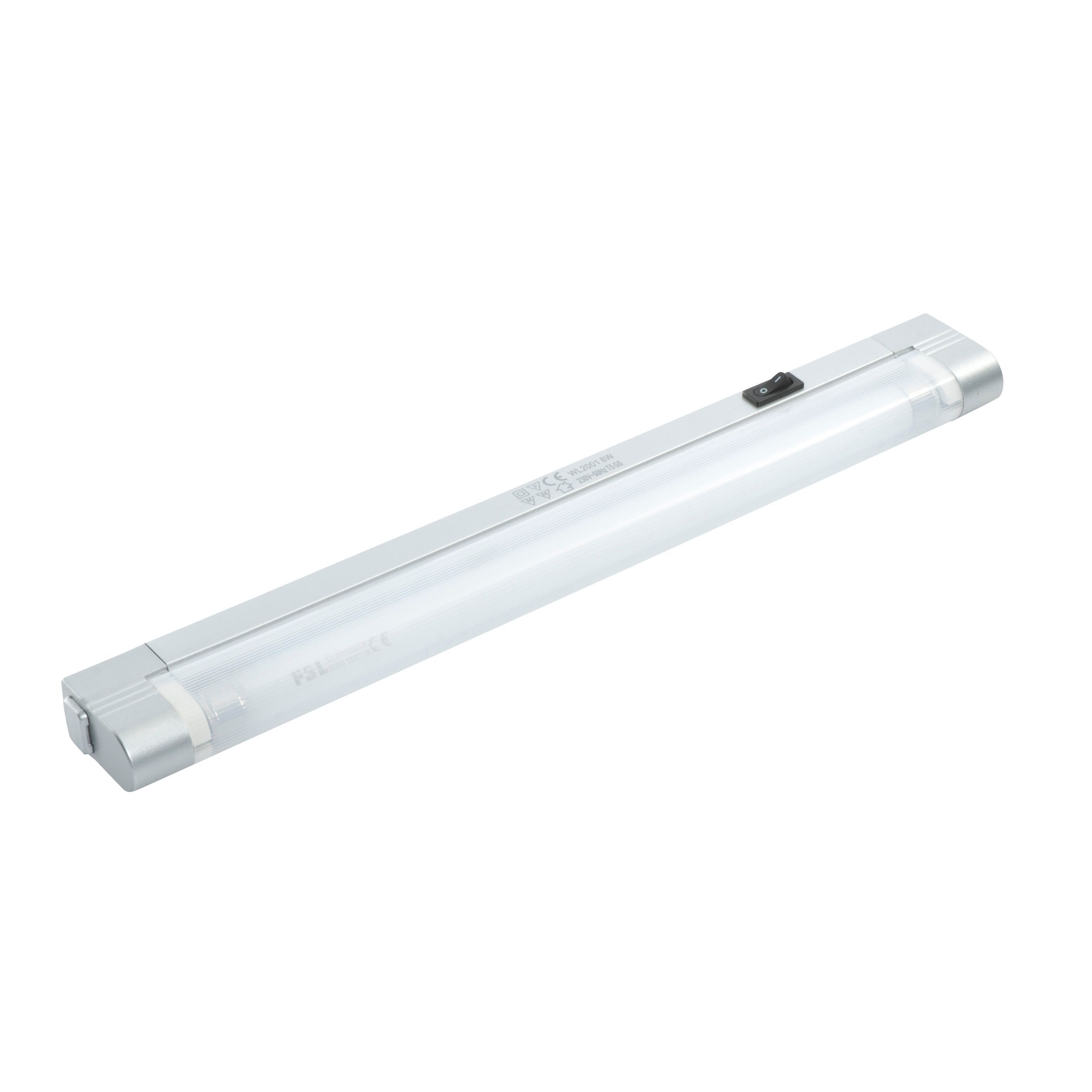 Masterlite Mains Powered Fluorescent Linkable Cabinet Light (l)355mm Ip20