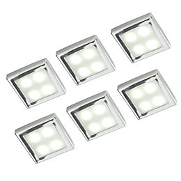 Masterlite LED 0.6W Cabinet Light, Pack of 6