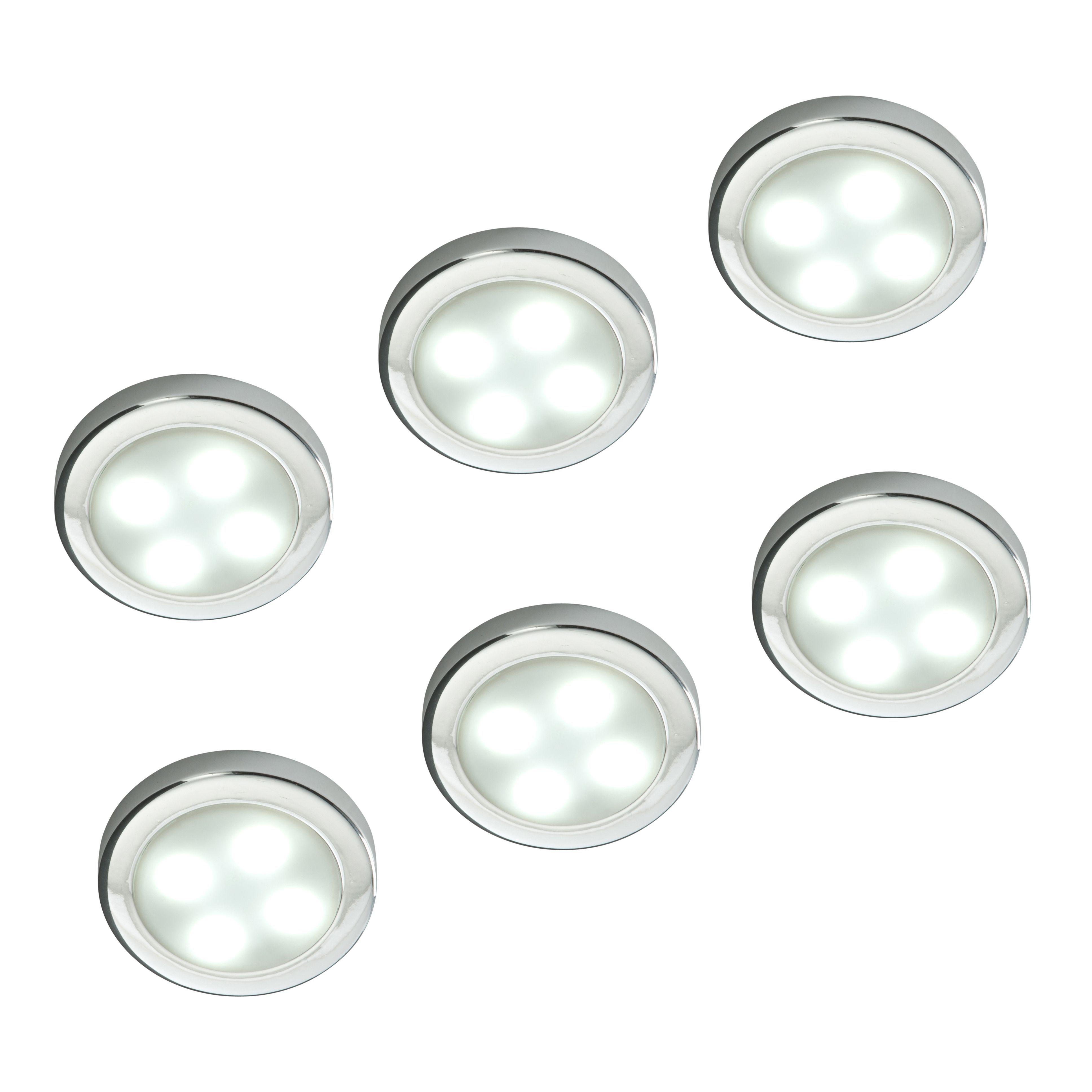 Masterlite Mains Powered Led Cabinet Light Pack Of 3: Masterlite Mains Powered LED Cabinet Light, Pack Of 6