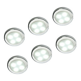 Masterlite LED 0.6W Cabinet Light, Pack of 6