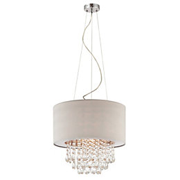 Charlota Droplet Cream Pendant Ceiling Light