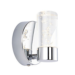 Hubble Bathroom Chrome Effect Wall Light