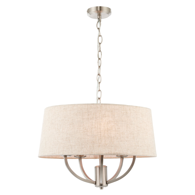 Hampstead Natural Linen 5 Lamp Ceiling Pendant Light | Departments ...
