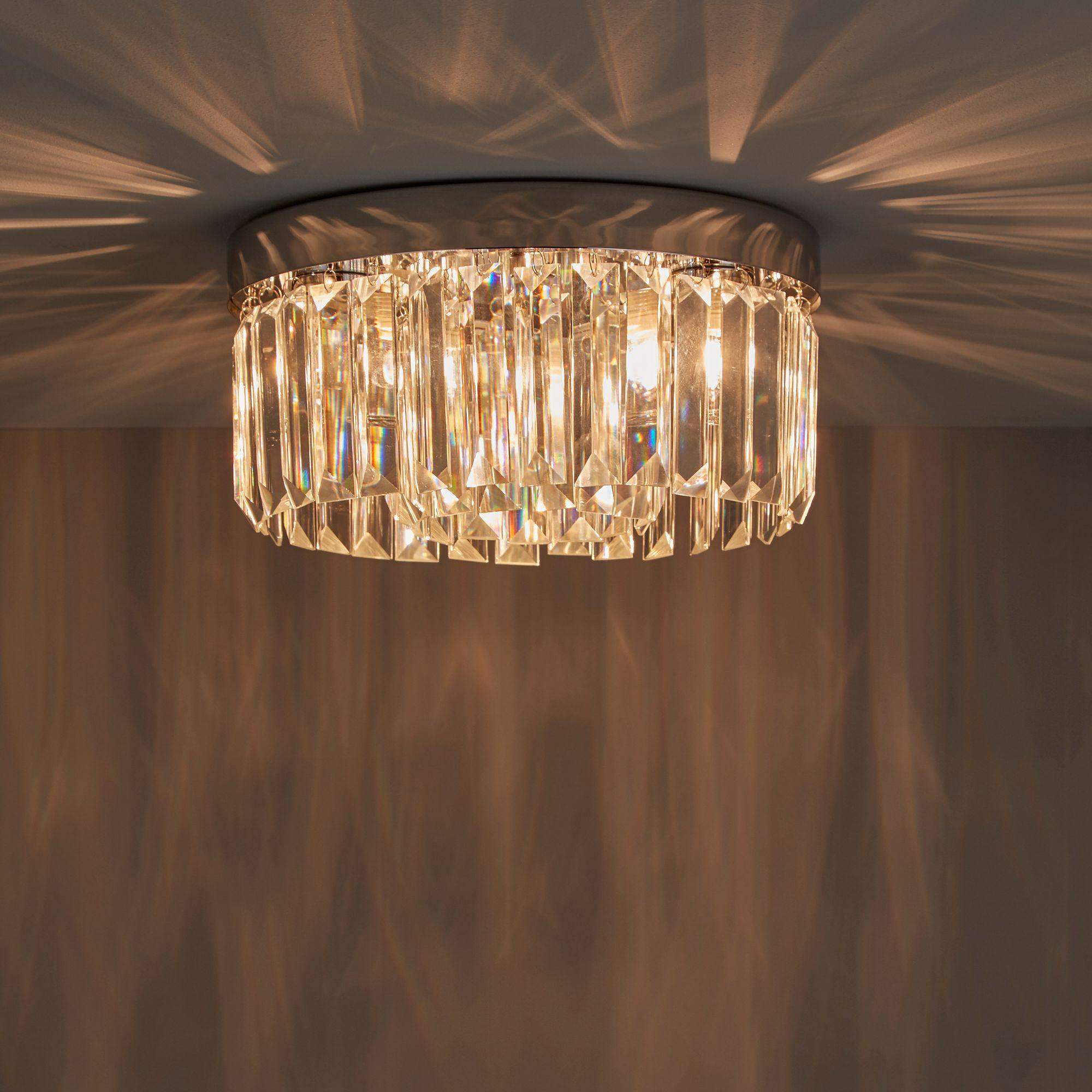 Lemont Chrome Effect 3 Lamp Flush Light