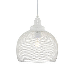 Solent Cage White Pendant Ceiling Light
