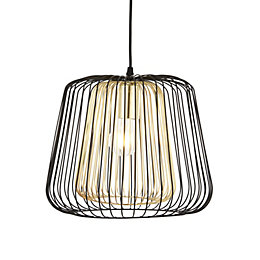 Camparo Wire Black & Gold Pendant Ceiling Light