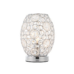 Lisel Chrome Effect Table Lamp