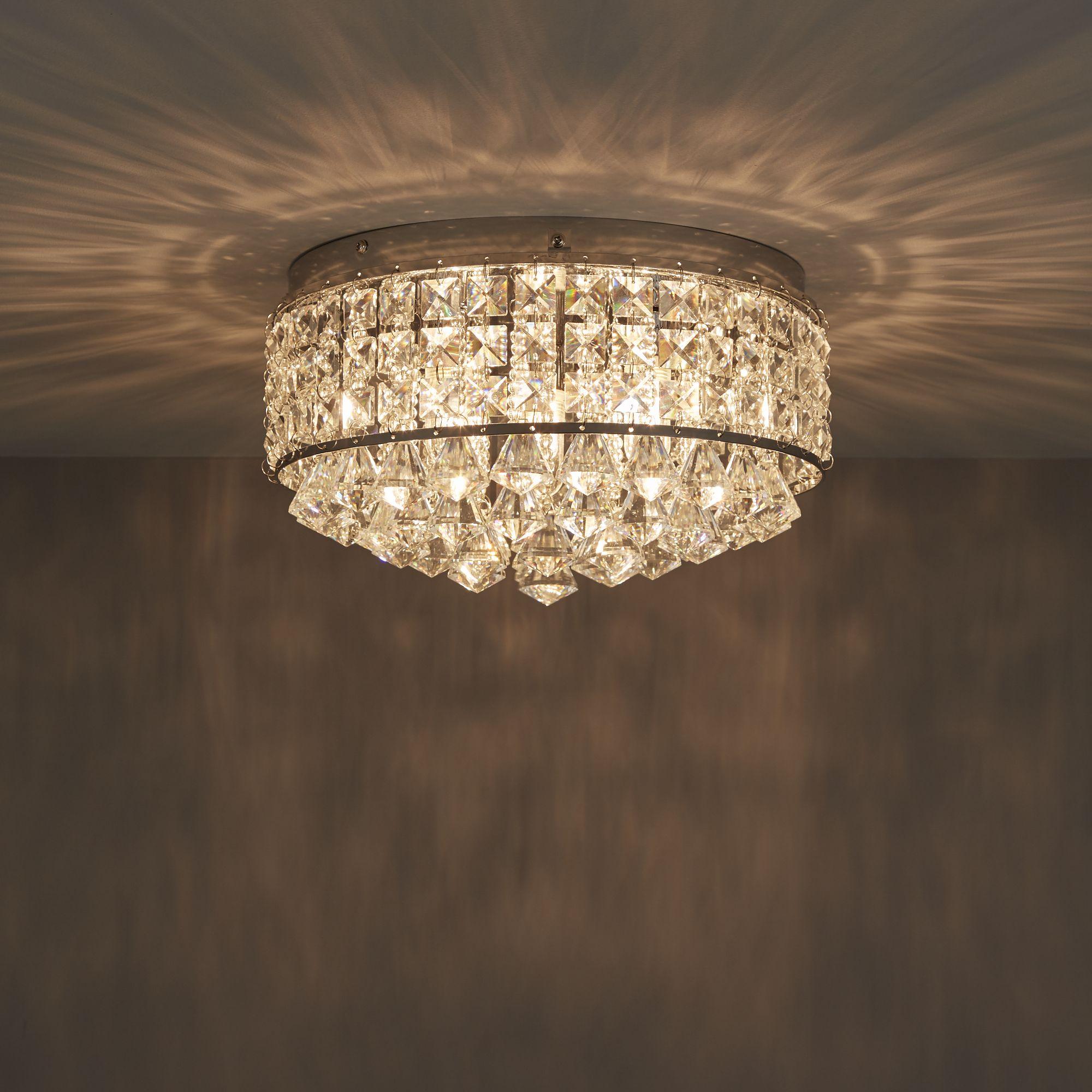 Diy at bq ultim chrome effect 3 lamp flush light arubaitofo Images
