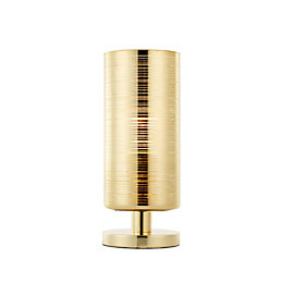 Jojo Brushed Gold Effect Table Lamp