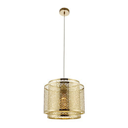 Myla Metalwork Gold Effect Pendant Ceiling Light