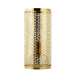 Myla Metalwork Gold Effect Table Lamp