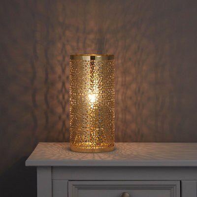 Myla Metalwork Gold Effect Table Lamp