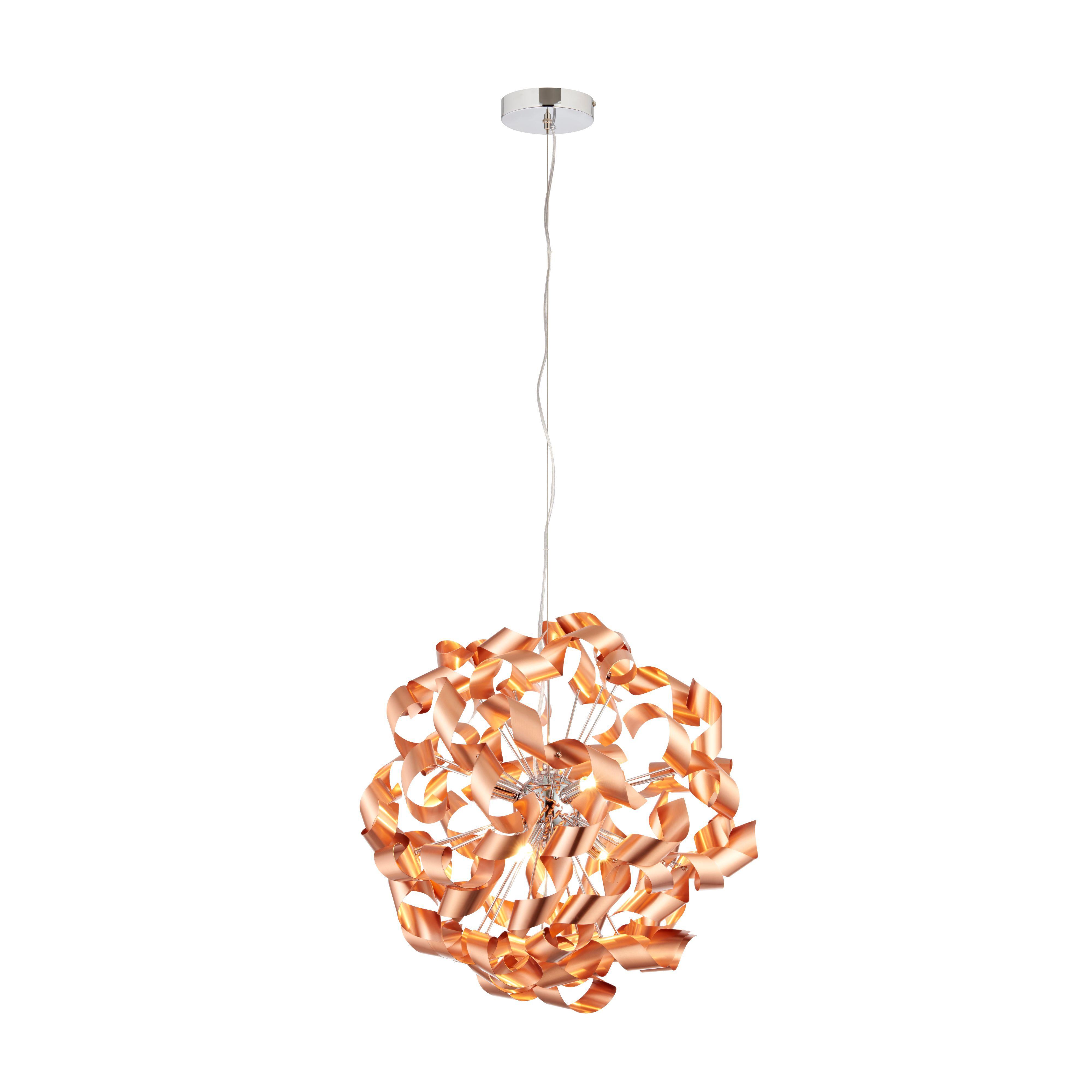 Diy at bq focal point light fixture marcela modern copper brushed 6 lamp ceiling light arubaitofo Images