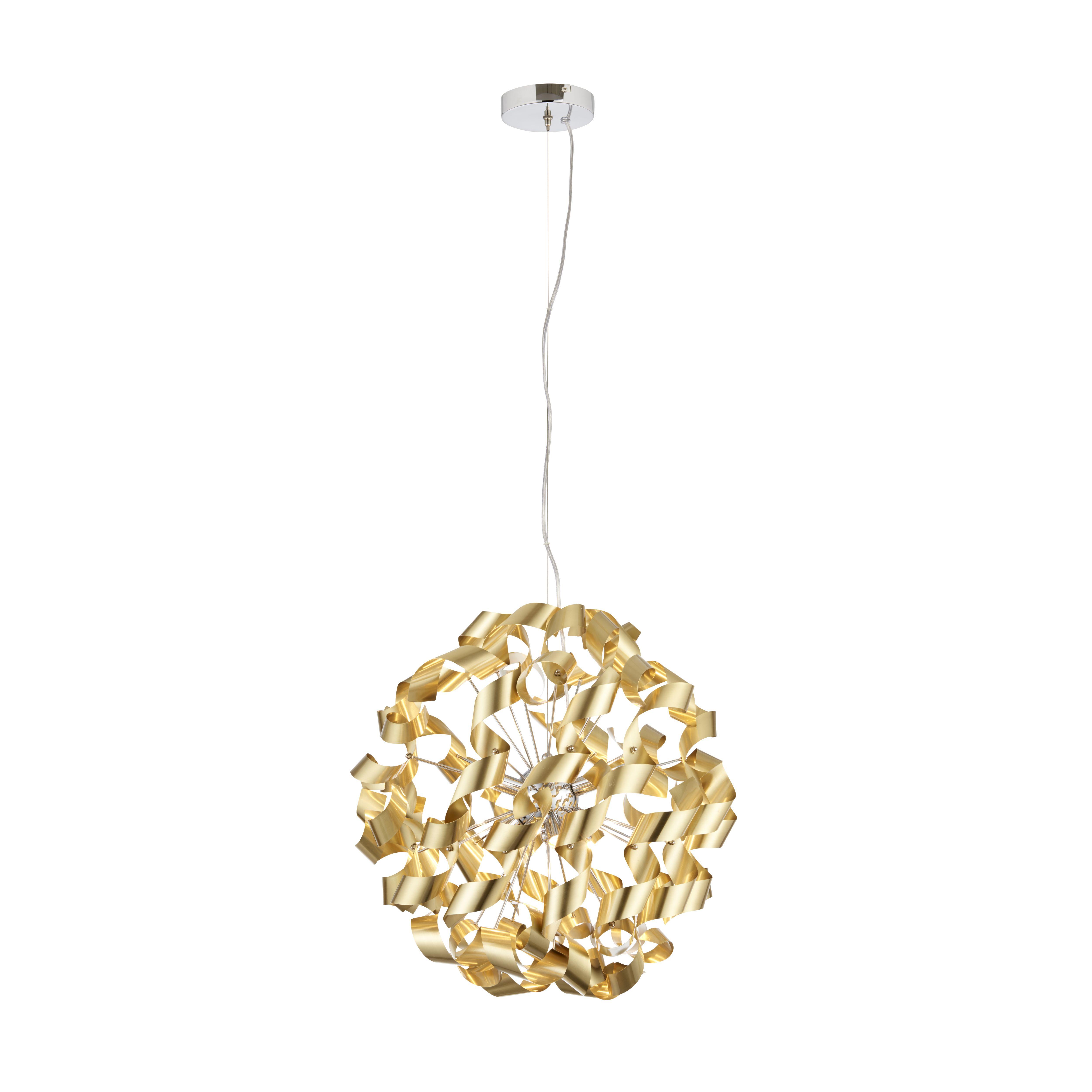 Marcela Modern Gold Matt Brushed 6 Lamp Ceiling Light