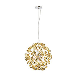Marcela Modern Gold Matt Brushed 6 Lamp Ceiling
