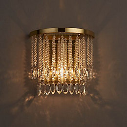 Angelica Satin Brushed Gold Effect Wall Light