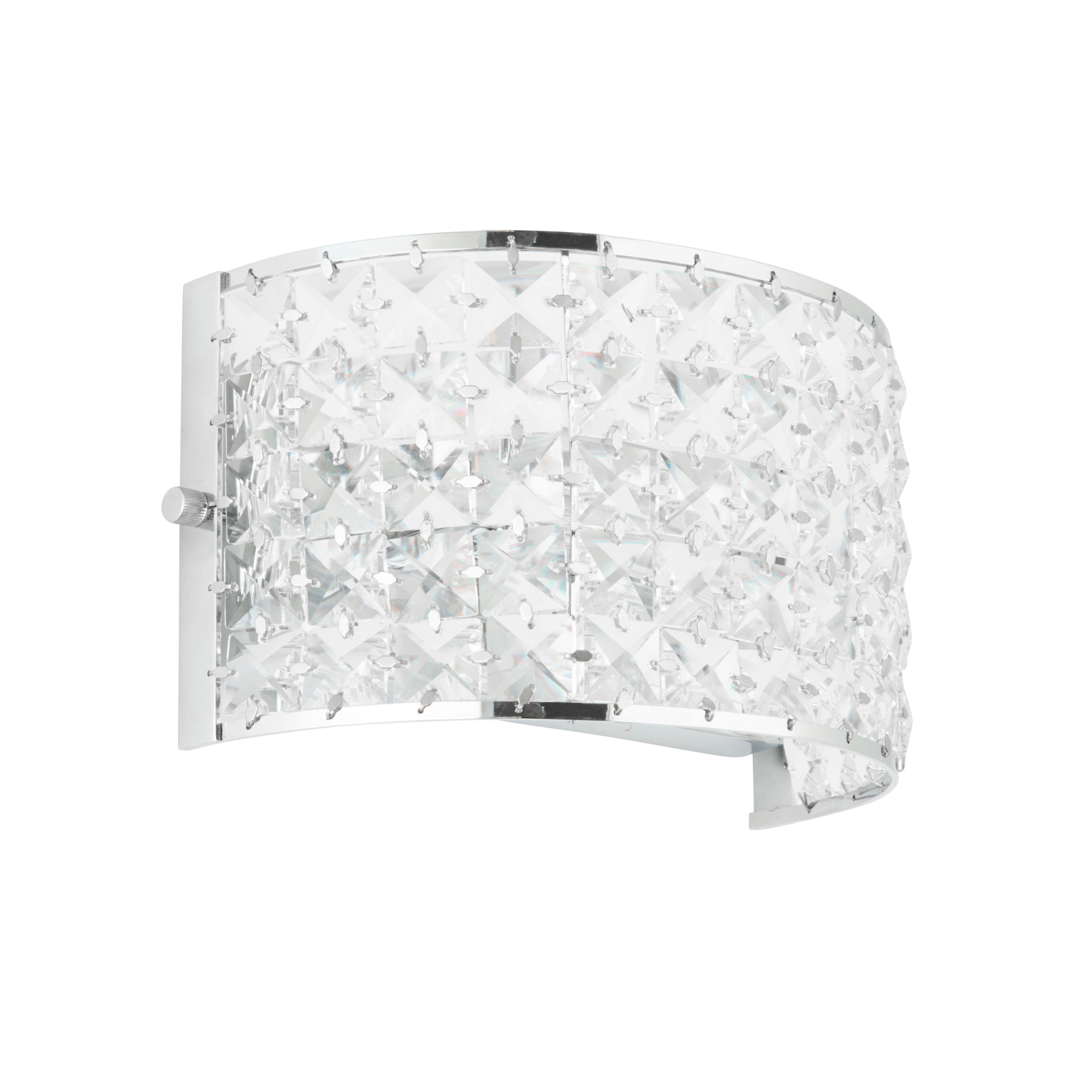 Adela Glass Beads Chrome Effect Wall Light