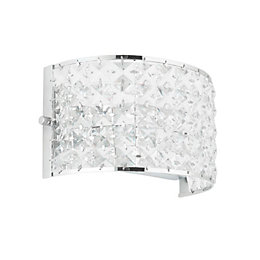 Adela Glass Beads Chrome Effect Wall Light