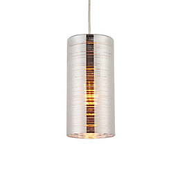 B&Q Jojo Silver Chrome Effect Pendant Ceiling Light