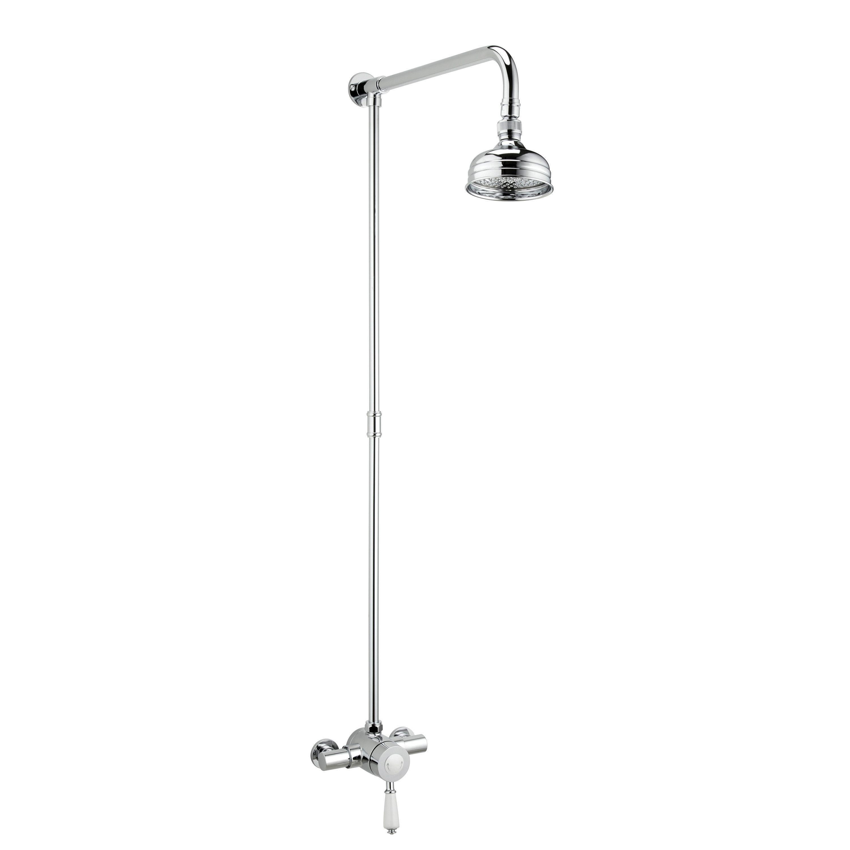 bristan colonial chrome thermostatic sequential mixer shower bristan colonial chrome thermostatic sequential mixer shower departments diy at b q