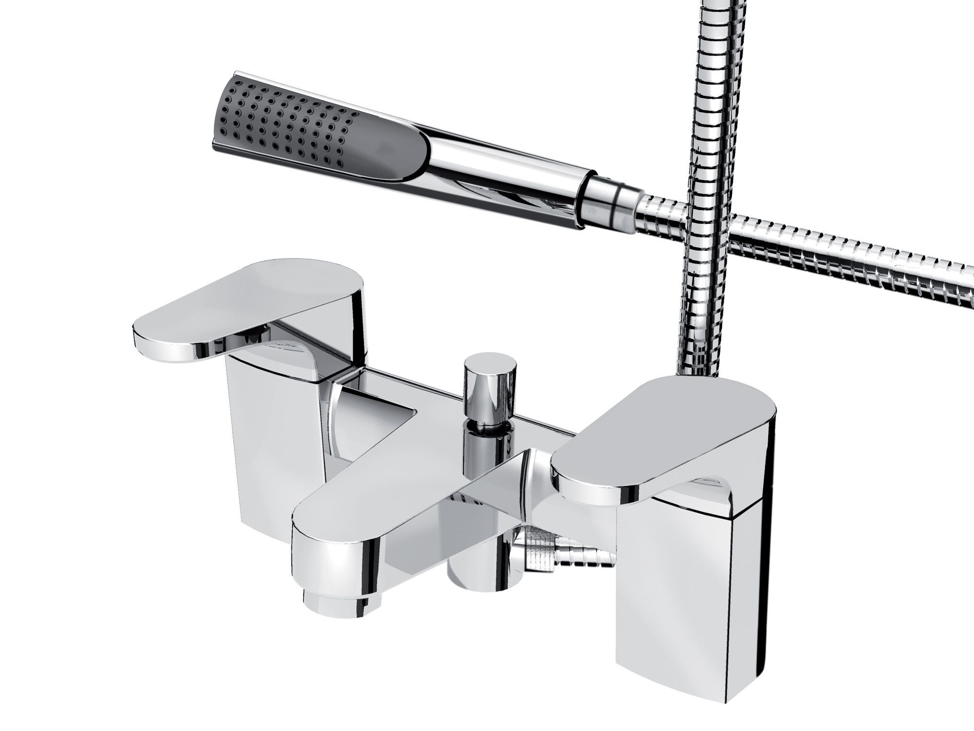 bristan curve chrome bath shower mixer tap departments diy at b q