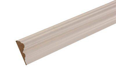 Mdf Mouldings Primed Dado Rail (t)18mm (w)58mm (l)2400mm, Pack Of 1