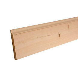 Softwood Mouldings Smooth Skirting (T)15mm (W)169mm (L)2400mm,