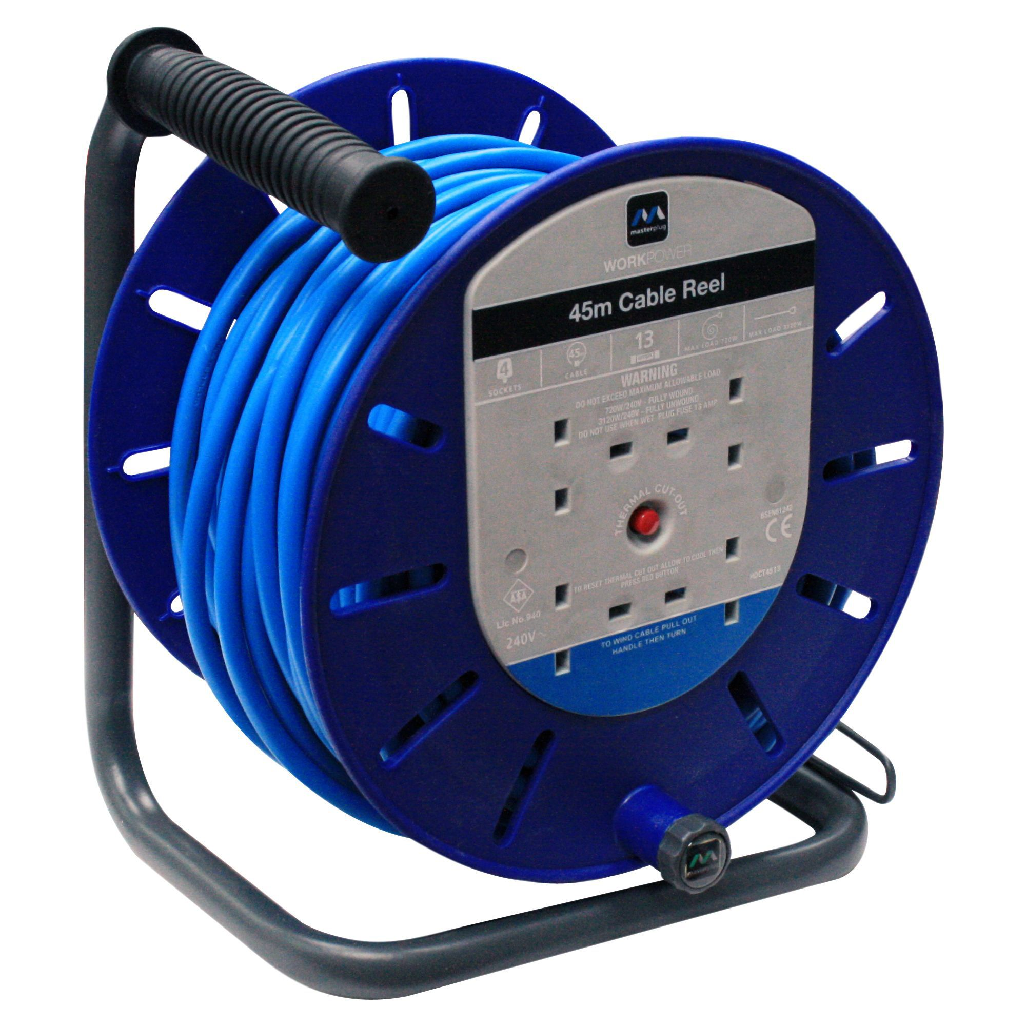 Masterplug 4 Socket 13a Cable Reel L 45m Departments